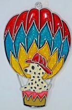 "Dalmation with Fireman's Helmet In Hot Air Balloon Suncatcher ~ 5.75""~ New"