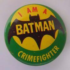 1966 Creative House Batman Pinback Button Pin-I am a Batman Crimefighter-D4