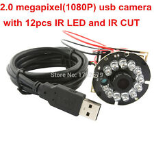 1080P USB 12IR LED Night Vision Camera Module CMOS OV2710 MJPEG 60fps 8mm Lens