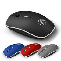 Silent Wireless Mouse Silent Computer Mouse 2.4Ghz 1600 DPI Ergonomic Mause~