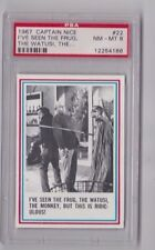 1967 TOPPS CAPTAIN NICE TEST ISSUE I'VE SEEN THE FRUG... CARD #22 PSA 8 NM-MT