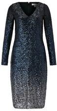 Monsoon Heidi Ombre Sequins Midi Dress Uk 16 Bnwt