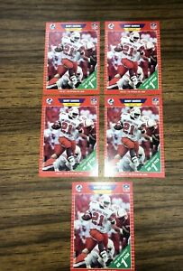 1989 Pro Set Football Cards Barry Sanders Rookie #494 Lot Of 5 Lions