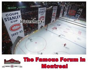 NHL 1990's Banners from  Famous Montreal Forum Game Action Color 8 X 10 Photo