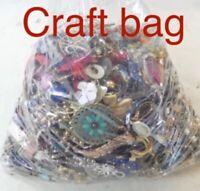 1 Pound Lot Jewelry Junk Craft , Repurposing,broken pieces,beads .