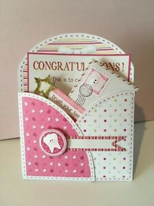 Tooth Fairy Kit hand made Girl card with envelope ready to mail
