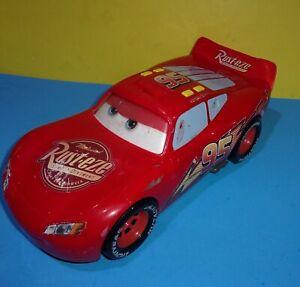 "Disney Pixar Cars Large 14"" Lightning McQueen Light & Sounds Car Eyes Move 2008"