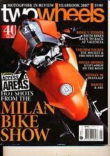 Two Wheels Magazine 01/2008 Piaggo MP3 BMW HP2 Transalp Rocket III KTM 690 SM