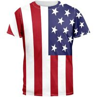 4th of July American Flag All Over Adult T-Shirt