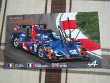 ALPINE A450 #36 signed Panciatici  24 Heures Le Mans 2014 LM Carte Card wec