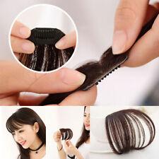 100% Human Hair Women Thin Neat Air Bangs Clip on/in Hair Extensions Hairpiece