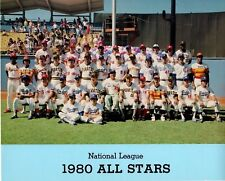 1980 National League All-Stars Team 8x10 Stock Card Promo Photo MLB Baseball