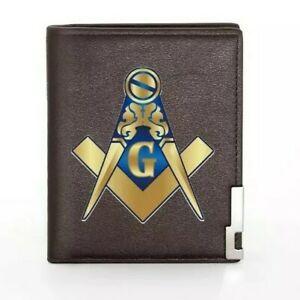 Mens Masonic Wallet brown