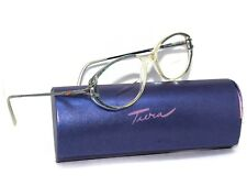 Tura Women's Vintage Eyeglasses Silver Crystal Clear Oval Frame 53[]16 125