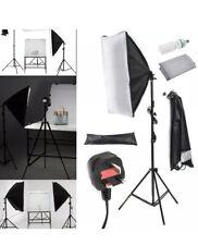 Estudio De Fotografía Kit de iluminación softbox 2x Luz Soporte Ajustable