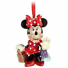 DISNEY STORE EXLUSIVE MINNIE MOUSE SHOPPING SHIMMERING BAGS ORNAMENT NIB