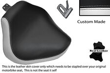 WHITE & BLACK CUSTOM FITS YAMAHA XVS 1100 DRAGSTAR CUSTOM FRONT SEAT COVER