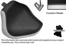 WHITE & BLACK CUSTOM FITS YAMAHA XVS 1100 DRAGSTAR CUSTOM FRONT SEAT COVER