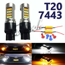 2X T20 7443 7444 Switchback Resistor 4 clips Front Signal Light for GM