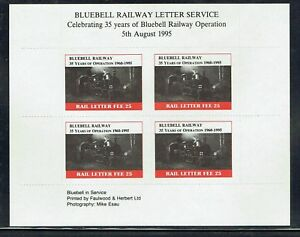 Bluebell Railway 1995 35 years of Operation stamp in sheet unmounted mint