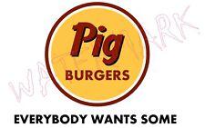 Mens Shirt Better Off Dead: Pig Burgers K-12 Van Halen John Cusack Parody Shirt