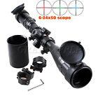 Riflescope 6-24x50AOE Red/Green/Blue Illuminated Mil-dot Rifle Scope W/ Sunshade