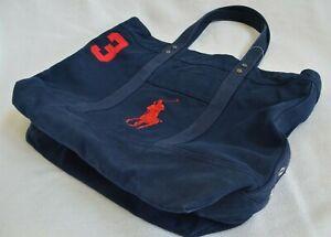 New Polo Ralph Lauren Big Pony Large Canvas Tote Bag Beach Shopping Bag