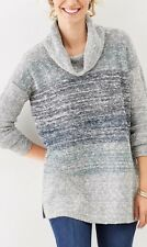 J Jill Marled Cowl Neck Sweater Long Topper Knit SZ XL,1X $109 NEW!