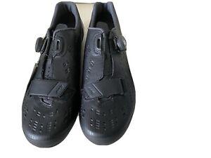Shimano RP9 (SH-RP901) Road Cycling Shoes Black Size 43 UK 8 - free cleats incl