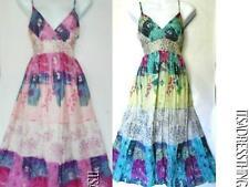 Petite Cotton Floral Knee Length Dresses for Women