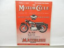 Nov 1957 The Motorcycle Magazine Matchless Clubman Model G11 Lambretta L10998