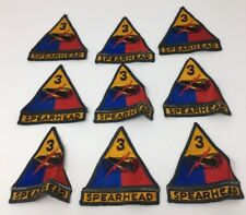 Army 3rd Armored Division Spearhead Third Herd Lot of 9 Cloth Patches (17-1859C)