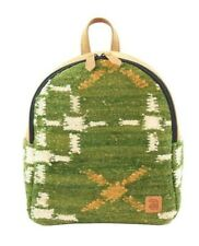 Urban handmade minibackpack Air natural wool and leather padded hidden pocket
