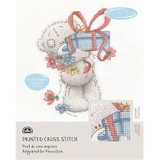 DMC Me to You Tatty Teddy Printed Cross Stitch Fabric Kit - Gift