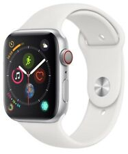 Apple Watch Series 4 44 mm Silver Case with White Sport Band GPS + Cellular Mint