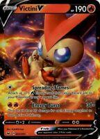 Pokemon TCG Card - Victini V 25/202 - Ultra Rare Holo - Mint NM