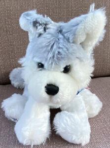 """Ganz Webkinz Husky Dog 12"""" Plush Husky HM120 Gray White Dog NO CODE NO TUSH TAG"""