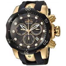 Invicta 24257 Venom Quartz Chronograph Day Date Black Silicone Strap Mens Watch