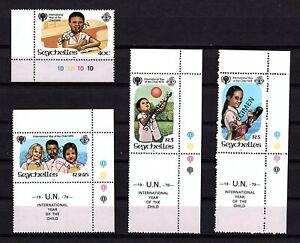 Seychelles 1979 SPECIMEN Int. Year of the child Kinder UNESCO Mi. 443-446 ** UMM