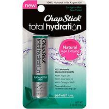 6 Pack ChapStick Total Hydration 100% Natural, Eucalyptus Mint, 0.12 Oz Each