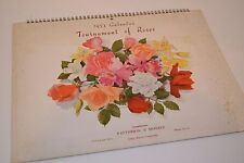 Vintage 1953 Tournament of Roses Calendar - Advertisement - Patterson & Snively