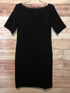 Ann Taylor Women's Black Dress Size 8 Short Sleeves NWT MSRP $139.00 LBB76