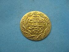 GRANDE Color Oro 24mm tipo Ottomano Turchia Token/Arabo Coin G. Grade