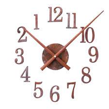 DIY Wall Clock Vintage Forward/Reverse Clocks Retro Rust Wall Watch Decor