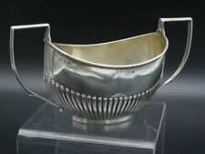 alte englische Silber Sauciere Silbersauciere England [schw