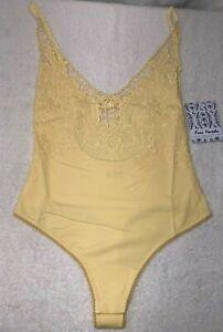 Free People Womens Lea Bodysuit Yellow Sample, size XS rrp £55