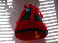 Arlee Home Fashions Inc Red Plush Shape Xmas Bell Pillow