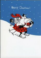 Moomin Moomintroll Skiing  ~ Blank Christmas Card - FREE 1ST CLASS POSTAGE