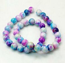 20 Jade Beads Dyed Multi Color Gemstone Beads 8mm - BD258