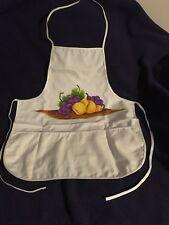 Fruit Grape & Pear Apron Pocket Unisex One Size